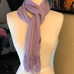 New York and company purple knit scarf